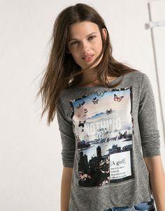 T-shirt BSK avec imprimé - T- Shirts - Bershka Algérie