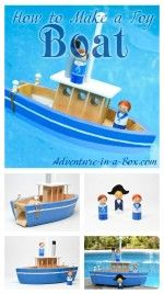 Make a toy boat – your kids will never want to go to the lake or bath without it! A fun DIY project for the summer fun.