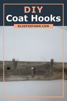 When you have a mudroom, you absolutely have to have a place to hang coats. Learn step by step how I made my coat hook. Old piece of barnboard adds so much character to our home decor. #coathooks #diycoathooks #mudroomideas Diy Coat Hooks, Fox Farm, Garden Junk, Rustic Crafts, Diy Garden Decor, Garden Projects, Mudroom, Driftwood, Garden Design