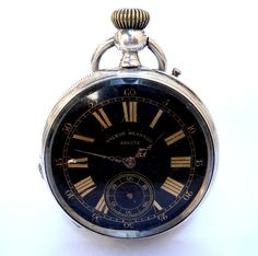 Antique Pocket Watch Swiss VICTOR JEANNOT Geneve by shopvintage1