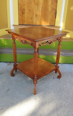 Rich HoneyToned Antique American Oak Two Tier by NightingaleArts, $439.00