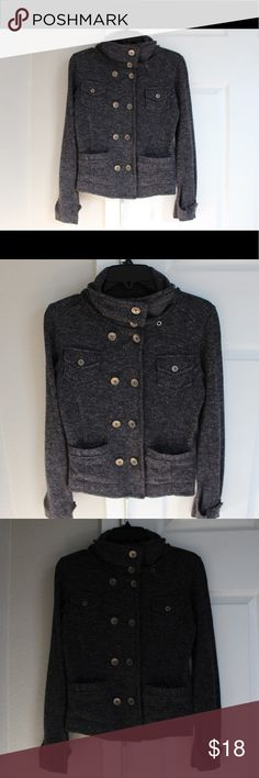 Light Fall Jacket. Dark Grey Very soft and warm, perfect for putting on and tying an outfit together. It looks classy but feels like you're wearing a hoodie. American Rag Jackets & Coats Blazers