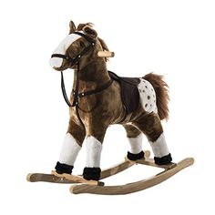 Qaba Kids Plush Rocking Horse Pony w/ Realistic Sounds - Brown * Check out this great image @