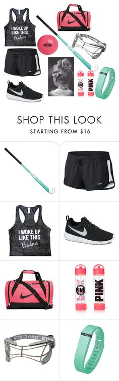 """""""Going to field hockey practice"""" by jazzygirl3 ❤ liked on Polyvore featuring NIKE and Fitbit"""