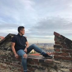 Rooftop castle views over Prague