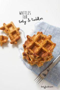 sweet potato waffles baby toddler - babyfoode