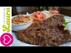 ▶ Milanesa de Res ¡Sin Freír! Carne empanizada Las Recetas de Laura Comida Saludable Breaded meat - YouTube