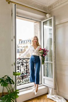 Marissa Cox of Rue Rodier on French Fashion Who What Wear UK French Chic Outfits, French Outfit, French Chic Clothes, French Clothing Styles, Classy Chic Outfits, Casual Outfits, Mode Outfits, Fashion Outfits, Paris Outfits