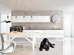 cuisine minimaliste en blanc