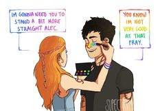 Clary and Alec bounding by su-pectrum.tumblr...