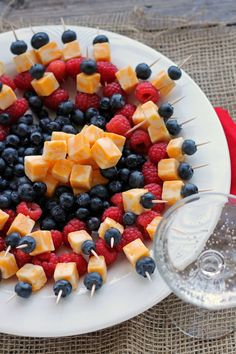 Mini Fruit and Cheese Kabobs