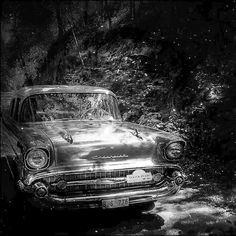 ****** by Mikael Jeney, via Flickr | #bw #blackandwhite #black #white #grey #car #chevrolet #vintage