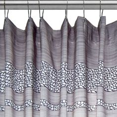 Merveilleux Mosaic Silver Fabric Shower Curtain