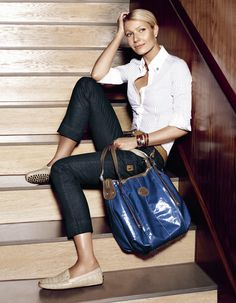 Gwyneth Paltrow for Tod's | More here: http://mylusciouslife.com/celebrity-style-gwyneth-paltrow/