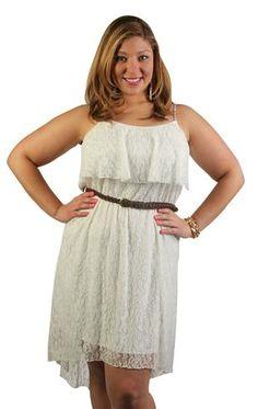 plus size lace patterned high low dress