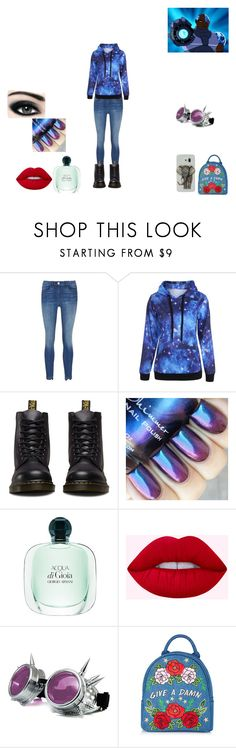 """cyborg gf"" by melissa-van-delft on Polyvore featuring mode, Dr. Martens en Max Factor"