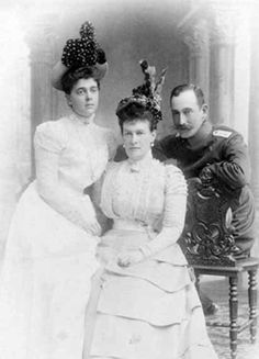 Grand Duchess Helena, Grand Duchess Maria, and Max of Baden.