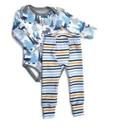 Nursery Time Boys 3pcs Long Sleeve Baby Body Vest 00-24 Months Blue Cotton New