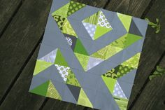 half square triangle block by sonnetofthemoon, via Flickr