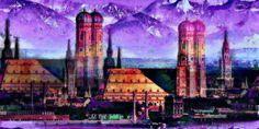 'München bei Föhnwind' von Marie Luise Strohmenger bei artflakes.com als Poster oder Kunstdruck $19.41