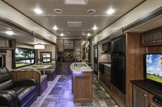 Prowler P292 is made for entertaining with its LED interior lighting, mocha glazed cabinetry, power awning with LED light strip, exterior speakers, TV Antenna with signal booster, and MP3 hookup.  #FifthWheel #Prowler P292: http://www.heartlandrvs.com/brands/midprofile/prowler-fifthwheel/prowler-p292