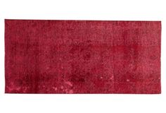 """Red Overdyed Rug, 2'7"""" x 5'7"""""""