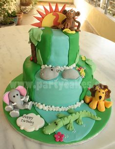 Jungle cake 1 copy by Party Cakes By Samantha, via Flickr