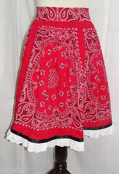 Handmade apron. Paisley bandana, follow the links!