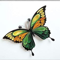 Kühlschrankmagnet - Quilling would be the art of making shots, objects and things from coils of pa Neli Quilling, Quilling Images, Quilling Butterfly, Paper Quilling Flowers, Paper Quilling Patterns, Paper Quilling Jewelry, Origami And Quilling, Quilled Paper Art, Quilling Paper Craft