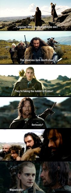 Hobbit and Lotr crossover...is this considered a crossover? Whatever, it's from two different movies in the Tolkien realm. How about that.