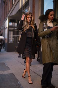 Pin for Later: Catch Up on the Best Model Street Style Moments at MFW New York Fashion Week Nina Agdal.