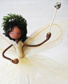 Christmas decoration fairy -  Fairy Tree Topper - Misty - Handmade Fairy Art doll - Christmas Angel