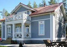 Bilderesultat for husfarge duck egg blue Exterior Makeover, Duck Egg Blue, Exterior Colors, Home Fashion, Sweet Home, Cabin, Mansions, Architecture, House Styles