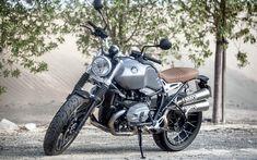 Download wallpapers BMW R nineT Scrambler, 2017, 4k, R series, cool motorcycle, German motorcycles, BMW