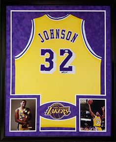 1d992c1e644 ... are looking at an autographed Magic Johnson framed jersey.