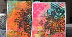 designteam Designbyryn art journals encaustic stamps gelli plate dylusions