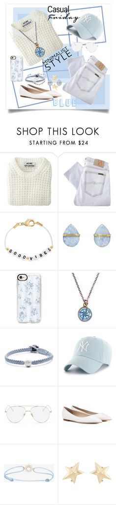 """Feeling Blue?"" by corliss-b on Polyvore featuring Acne Studios, Nudie Jeans Co., Ryan Porter, Melissa Joy Manning, Casetify, Chart Metal Works, Lokai, '47 Brand, Linda Farrow and Jimmy Choo"