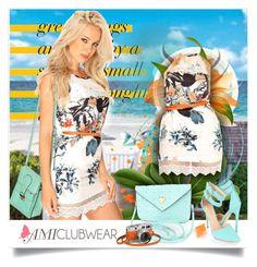 Navy White Leaf Print Scallop Crochet Cute Summer Dress - Amiclubwear.com - 19 by bebushkaj on Polyvore featuring moda, White Leaf and Hermès
