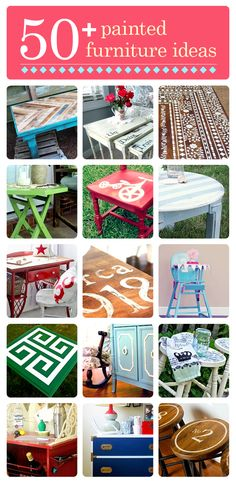 50+ painted furniture ideas for a DIY facelift. Click to see the rest of the projects!