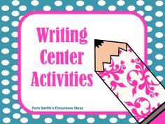 Writing Center Activities #TPT #TeachersFollowTeachers #FernSmithsClassroomIdeas
