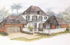Eplans French Country House Plan - New Orleans French Quarter - 2908 Square Feet and 3 Bedrooms from Eplans - House Plan Code HWEPL01352