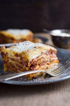 Lasagna Bolognese with Fontina Béchamel