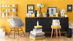 L'été sera jauneCitron, moutarde, canari et mimosa, on met du jaune partout pour faire rayonner nos intérieurs !