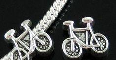 1 bicycle charm bead,european beads,Big hole bead,charm braclet,troll beads,rondelle,braclet,charm bracelet. $1.49, via Etsy.