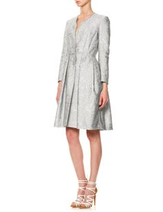 Grey Jacquard Princess Coat | Mantu | Avenue32