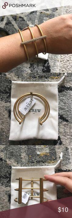 J. Crew gold bangle - NWT J. Crew gold bangle with diamond accents - NWT J. Crew Jewelry Bracelets