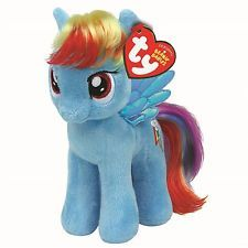 """My Little Pony Rainbow Dash Plush Soft Toy Small/ Beanie - 7"""" Official Wings"""