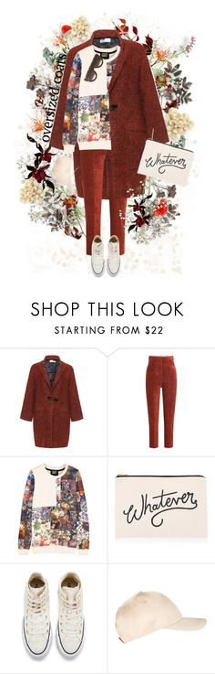 """Don't Kill My Vibe"" by mmk2k ❤ liked on Polyvore featuring Bohème, Golden Goose, Markus Lupfer, ALPHABET BAGS, Converse, Miss Selfridge, CÉLINE, coat and oversizedcoats"