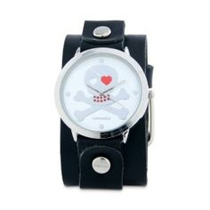 Buy Nemesis Women's GB821S Independent Series Black Love Skull Leather Cuff Watch Find Best Deals - http://greatcompareshop.com/buy-nemesis-womens-gb821s-independent-series-black-love-skull-leather-cuff-watch-find-best-deals