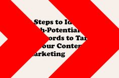 5 Steps to Identify High Potential Keywords Content Makrketing